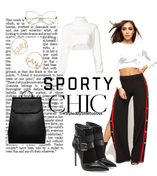 Sporty chic track pants
