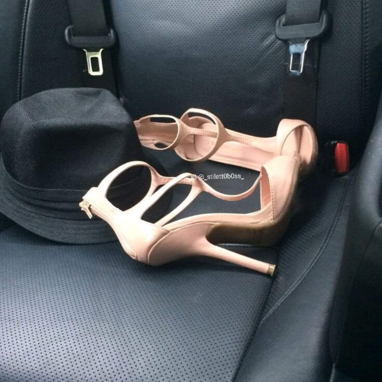 My emergency shoes in the car